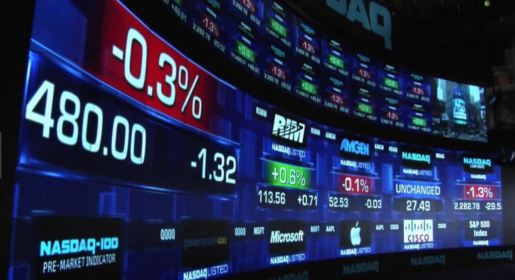 данные о состоянии криптовалютного спот-рынка в режиме реального времени Nasdaq